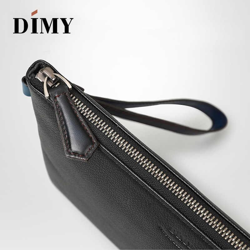 4bfde1d0 ... Newest handmade vintage Men Leather Envelope band Clutch Bag Male A4  Durable Briefcase Document Bag Travel
