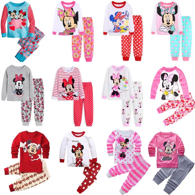 Children's Clothing Sets Sleepwear Clothes Kids Mickey Minnie Mouse Collection Pajamas Set Baby Girls Pijamas Autumn Pyjamas
