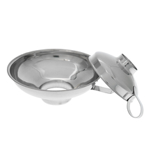 Wide mouth canned tank funnel with handle kitchen tool accessories stainless steel wide filter