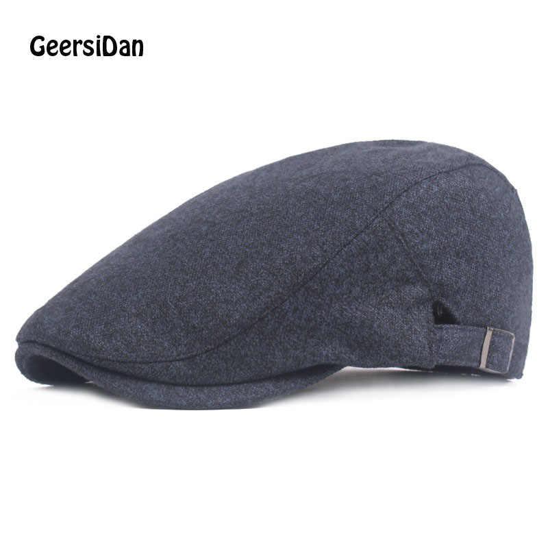 dc8876d812552 GEERSIDAN 2018 Top qualiy winter solid Beret Cap For men women Red Spring Peaked  Caps Keep