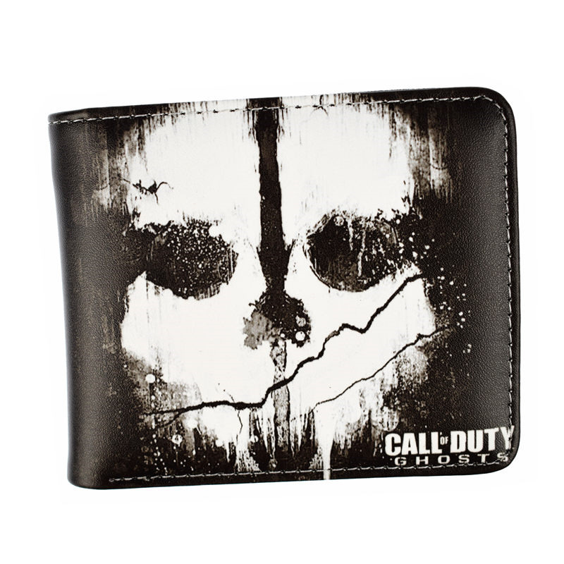 Hot Game CALL of DUTY GHOSTS Wallet 2 Style Men's Fashion Purse аккумулятор rocknparts zip для huawei honor 6 452814