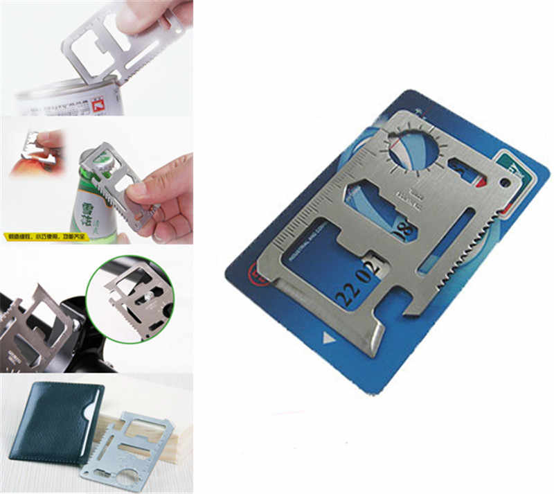 pocket tool multifunction Knife credit edc outdoor bottle survive gear card multi multipurpose gadget camp opener wallet kit