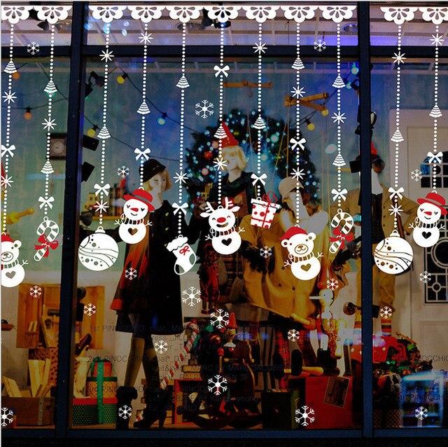 Weihnachten schaufenster dekoration weihnachten aufkleber weihnachten schneemann wandaufkleber - Schaufensterdekoration weihnachten ...