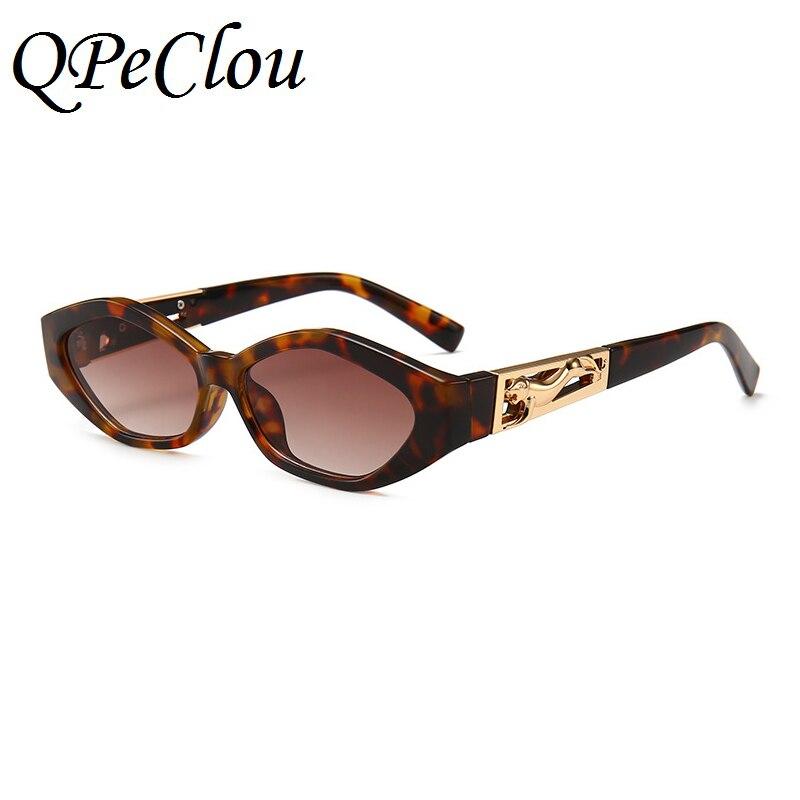 29ddcccfbe QPeClou New Brand Modern Cat Eye Sunglasses Women Cheetah Sun Glasses  Female 2018 Eyewear Men Unique Eyeglasses UV400-in Sunglasses from Apparel  Accessories ...