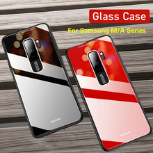 Mirror PC+TPU+Plexiglass Glass Phone Case For Samsung A30 A40 A50 A60 A70 Soft Edge M30 M20 A8S Plain Cover Coque New