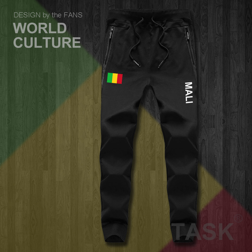 Republic Of Mali MLI Malian ML Mens Pants Joggers Jumpsuit Sweatpants Track Sweat Fitness Fleece Tactical Casual Nation Country