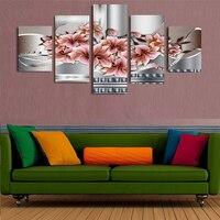 (Sin marco) 5 unidades magnolia Irregular Grande de la Lona wall Art pintura Abstracta de la lona de arte la decoración del hogar sala de Impresión de la Lona