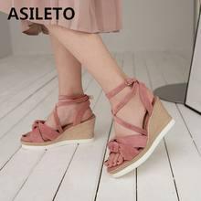3d9896d9a6f ASILETO sandales à talons compensés chaussures à talons hauts femme sandales  plateforme chaussures d été