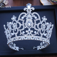 CC big tiaras and crowns hairbands luxury pageant engagement wedding hair accessories for bride jewelry shine rhinestone XY205