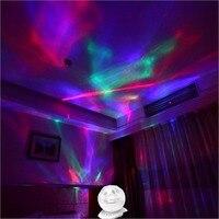 Nacht Lampe Projektor Musik Player 8 Lichter Modi 3 5 Audio Stecker Mini Verstärker Lautsprecher Kreative Design USB 5V-in Bühnen-Lichteffekt aus Licht & Beleuchtung bei