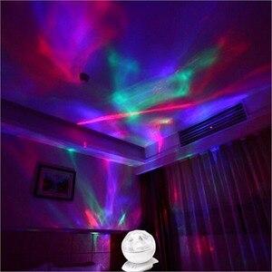 Night Lamp Projector Music Player 8 Lights Modes 3.5 Audio Connector Mini Amplifier Speaker Creative Design USB 5V