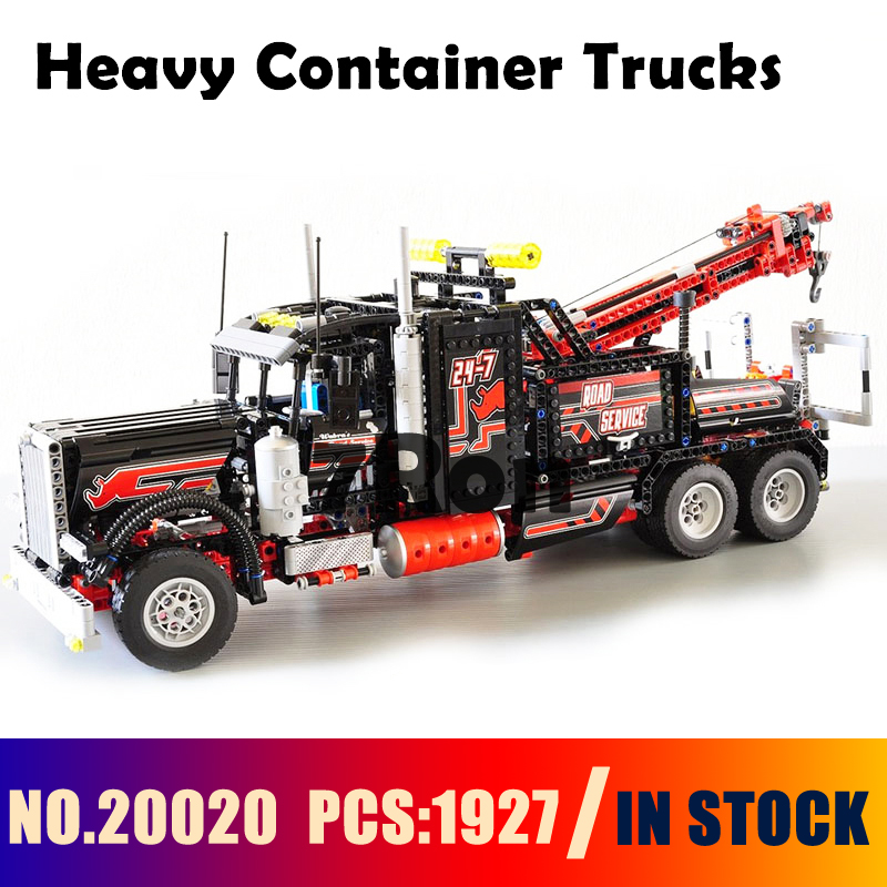 Model building toys hobbies 20020 Heavy Container Trucks Compatible With lego Blocks 8285 technic Educational DIY Bricks