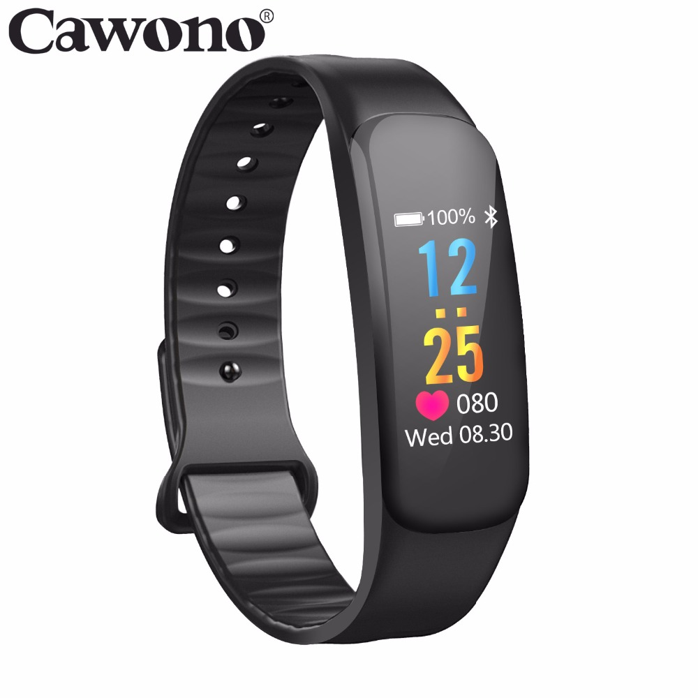 Cawono Bluetooth C1 Color LCD Smart bracelet Fitness Blood Pressure Heart Rate Monitor Fitness Tracker Sport Smart Wristbands цена