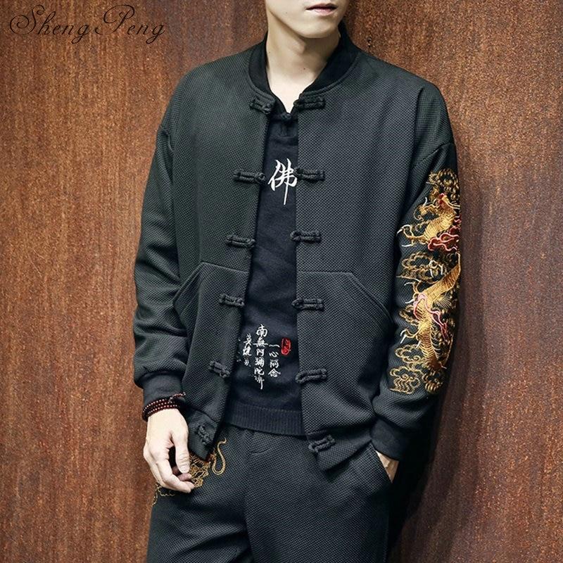 Vêtements chinois traditionnels pour hommes magasin de vêtements chinois dragon chinois veste vêtements orientaux chinois traditionnel CC214