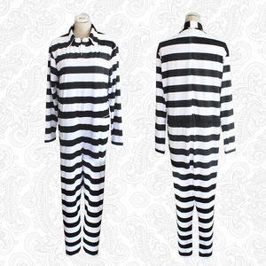 Image 2 - Kangoku Gakuen Prison School Prisoner Cosplay Costumes Clothes Prison Uniform Striped Coveralls One Piece Suit Siamese