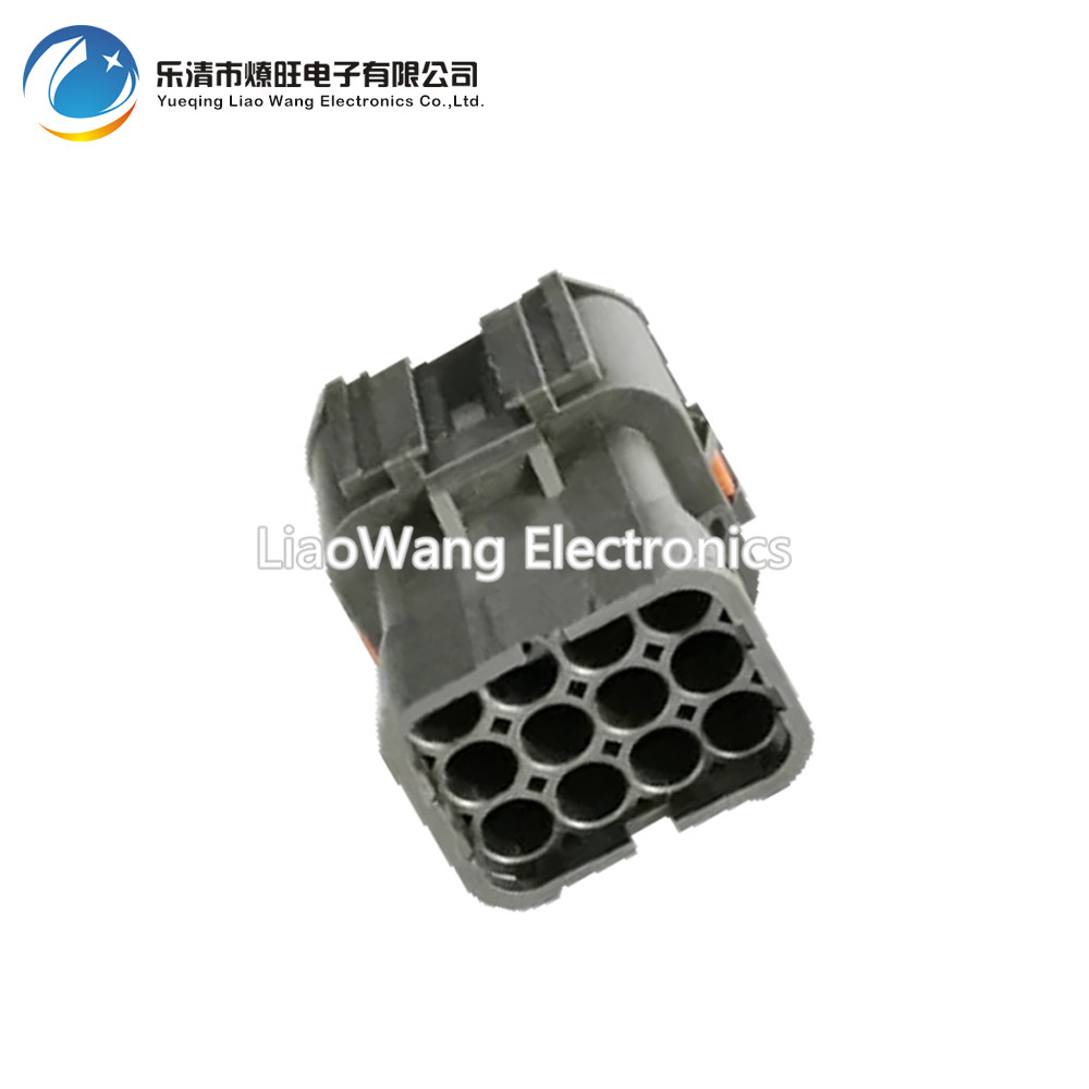 12 Pin Automotive Waterproof Connectors Black MG610346 5 Connector With Terminal Plug DJ7121Y 2 11 21 12P in Connectors from Lights Lighting