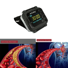 CE Laser Physiotherapy 650nm Laser Light Wrist Diode Low Level Laser Therapy lllt for Diabetes Hypertension Diabetic Watch недорого