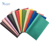 Xugar 22CM*30CM Litchi Pattern Faux Leather Fabric For Sewing Artificial Synthetic Pu For DIY Bag Shoes Material Hademade Fabric