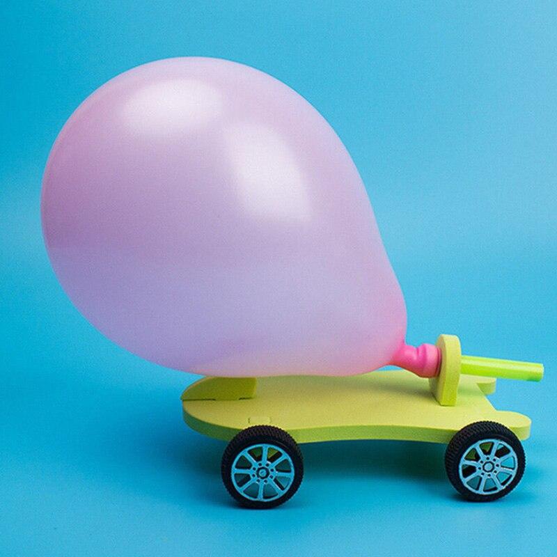 DIY Balloon Powered Car Recoil Force Science Technology Experiment Students ToysDIY Balloon Powered Car Recoil Force Science Technology Experiment Students Toys