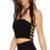 Estilo atractivo del Color sólido Tank Top sin espalda para mujeres 2016 mujeres cultivos chaleco para mujer Fitness corto camisola sin mangas culturismo
