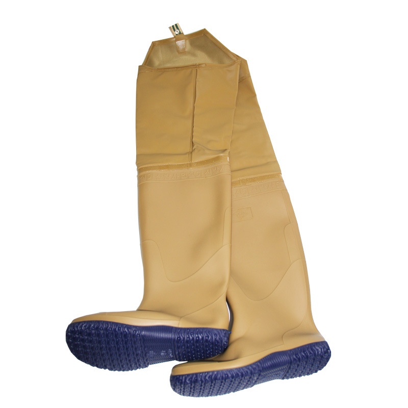 ФОТО Rainboots Knee Boots High Barrel Pant Boots Waterproof wader and Shoes Planted Fishing Wading Shoes Men  Fishing Pants