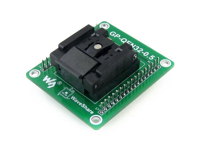 GP-QFN32-0.5-A = QFN32 MLF32 Adapter Enplas IC Test Socket Programming Adapter 0.5mm Pitch, QFN-32(40)B-0.5-02
