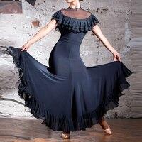 blackstandard ballroom dress fringe spanish flamenco dress ballroom dance dress flamenco costume viennese waltz dress