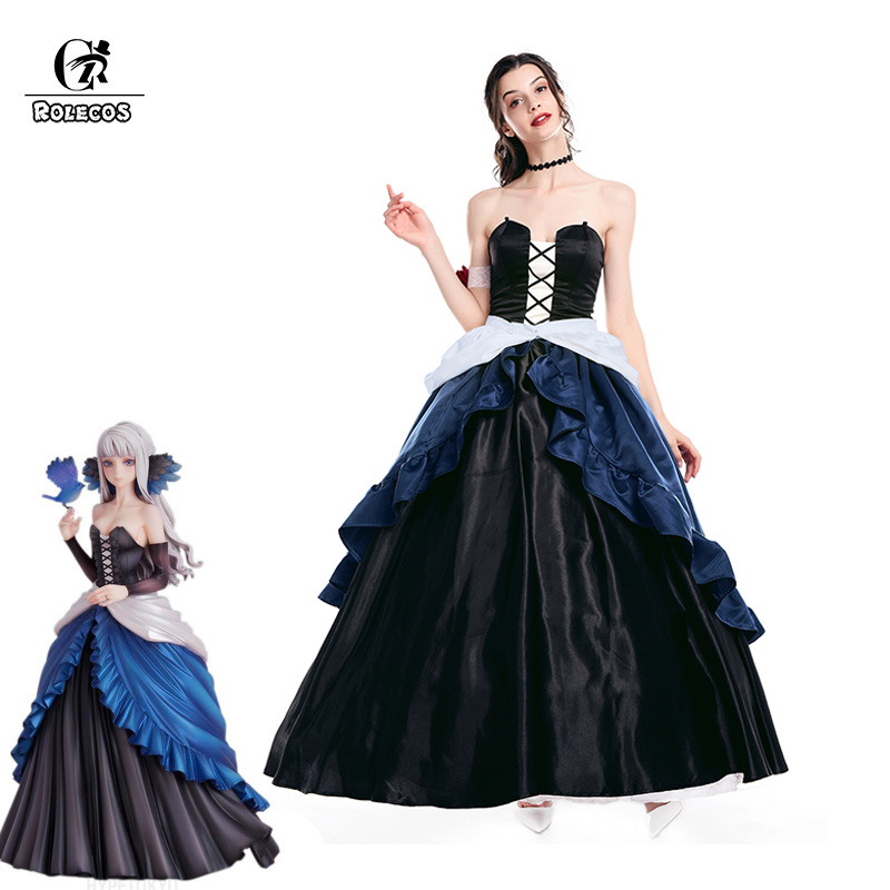 ROLECOS Victorian Dress Women Ball Gown Party Medieval Renaissance Costume Odin Sphere Game Cosplay Costume Gwendolyn Princess