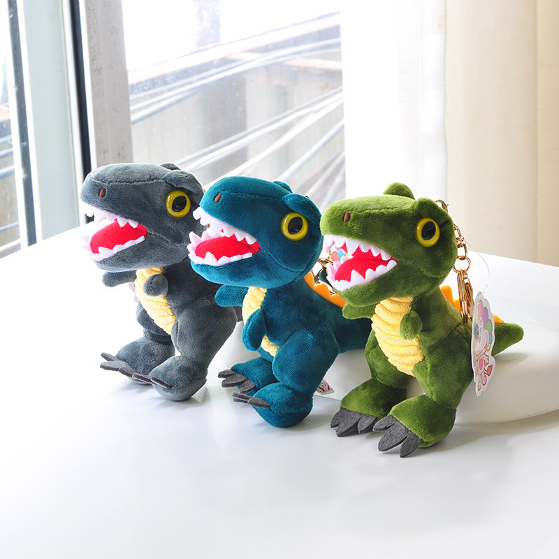 New Arrive Dinosaur Plush Toys Hobbies Cartoon Tyrannosaurus Stuffed Toy Dolls Keychain For Children Birthday Christmas Gift