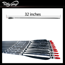 12pcs 32 Inch Hunting Carbon Arrow With Replaceable Arrow Spine 500 For Recurve Bow / Coumpond Bow And Arrow Archery цены