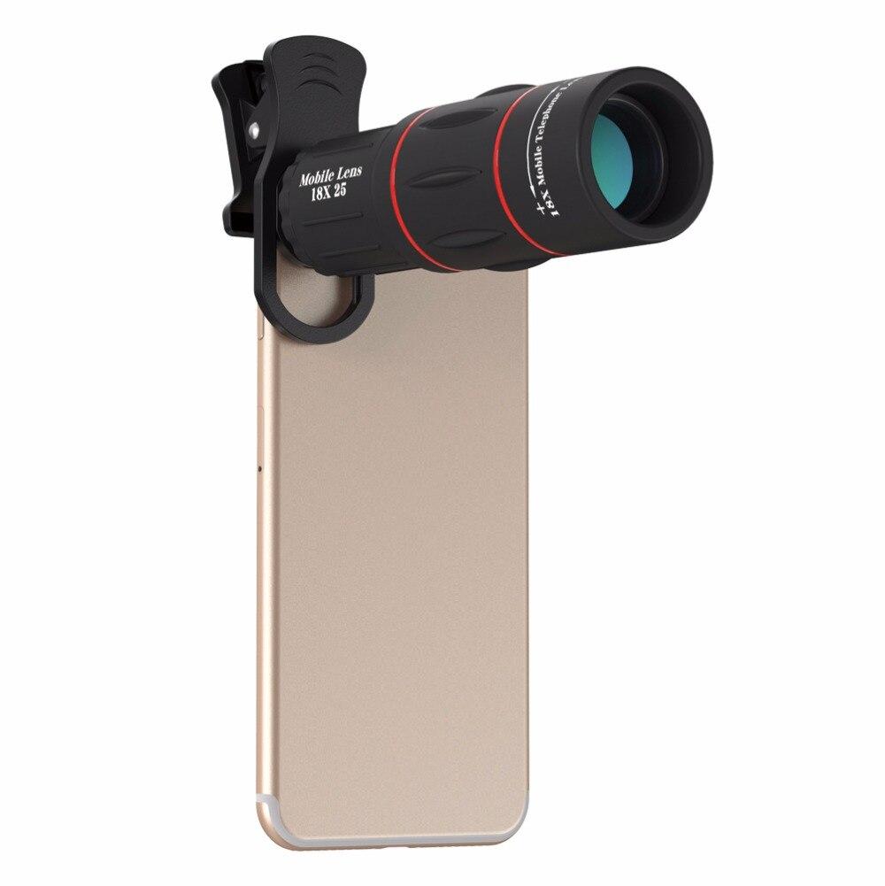 UVR AUTOFENSTERTÖNUNG Universal Tele Kamera Len 18X Zoom Optische Telefon Teleskop Tragbare Handy Für iPhone X/8/8 p Samsung Huawei fall