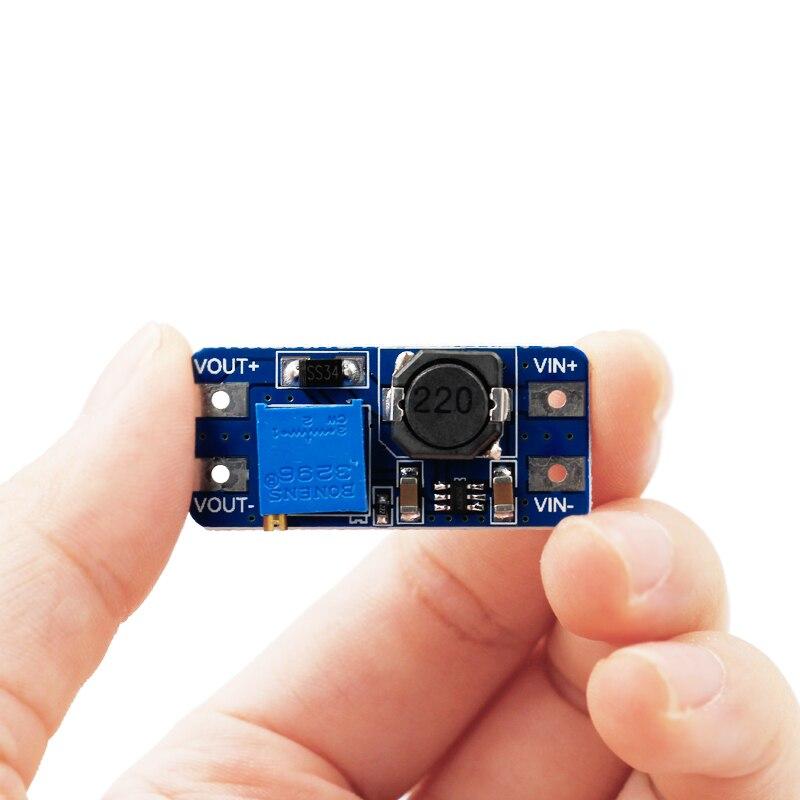 MT3608 DC-DC Adjustable Boost Module 2A Boost Plate Step Up Module With MICRO USB 2V - 24V To 5V 9V 12V 28V 40% Off