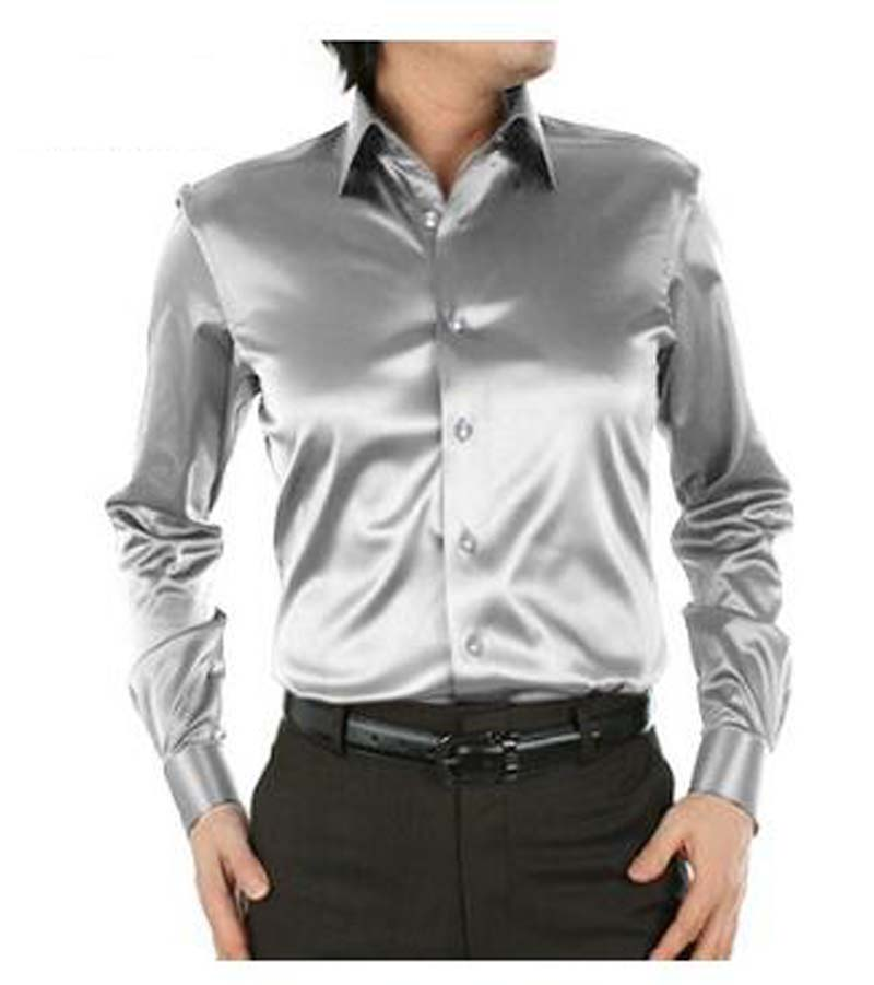 Popular silver dress shirt buy cheap silver dress shirt for Where to buy a dress shirt