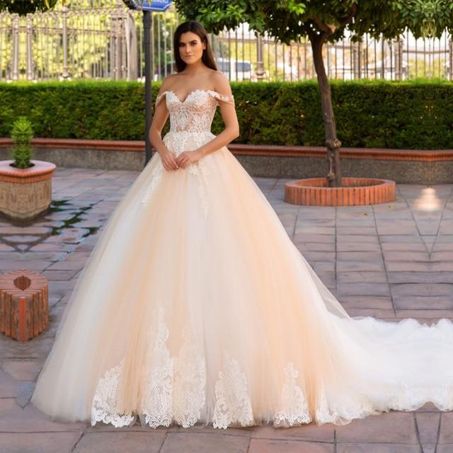 Vestidos De Novia Plus Size Wedding Dress Lace Bohemian Bride Dress