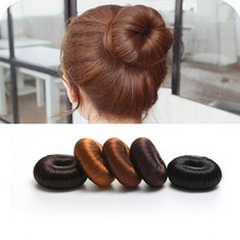 2017 Plate Hair Donut Elastic Hair Bands Bun Maker Magic Foam Sponge Hair Styling Tools Princess Hairstyle Hair Accessories 1Pcs