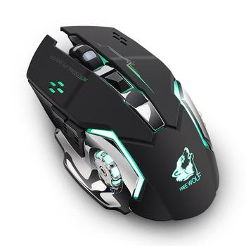Binmer  New 2.4GHz Wireless Mouse   Rechargeable Silent USB Optical Ergonomic Gaming Mini Mice   For PC Computer Laptop 18AUG7 เมาส์