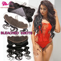 Brazilian Virgin Hair Lace Frontal Closure Piece Body Wave Full Lace Frontal With Baby Hair Cheap Lace Frontals Bleached Knots