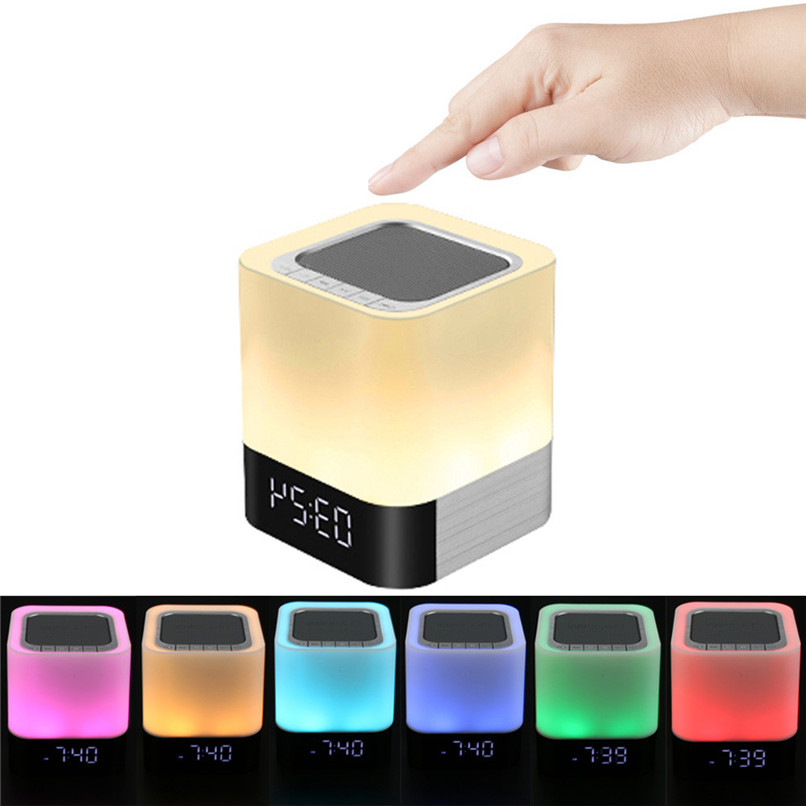 New Arrival Night Light With Bluetooth Speaker Wireless Speaker Touch Color LED Bedside Wholesale Free Shipping 30RK8