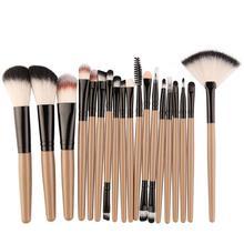 MAANGE 18 шт./компл. кисти для макияжа, набор, пудра, тени для век Румяна смешивание; красота Для женщин Косметика Макияж Кисти набор для макияжа бровей