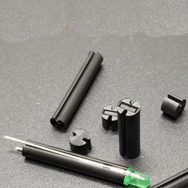 Light Pole Nut Covers: 30pcs 5mm In Diameter Double Pit Light Pole 6.5 10mm Black