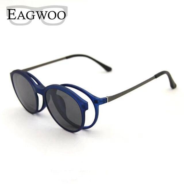 6a6c3f8131 Magnet Eyeglasses Full Rim Optical Frame Prescription Spectacle Round Vintage  Myopia Eye Glasses Sunglasses Anti Glare