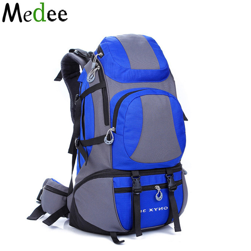 Medee 45L Waterproof Canvas Backpack Laptop Travel Backpack Sac a Dos Randonnee Eastpack School Bags For Teenagers Men&Women 8l small backpack bladder hydration bag men travel backpack fashion eastpack waterproof cute mochila sac a dos rucksacks