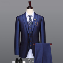 men suit royal blue man wedding suits father day gifts single breasted blazer ve