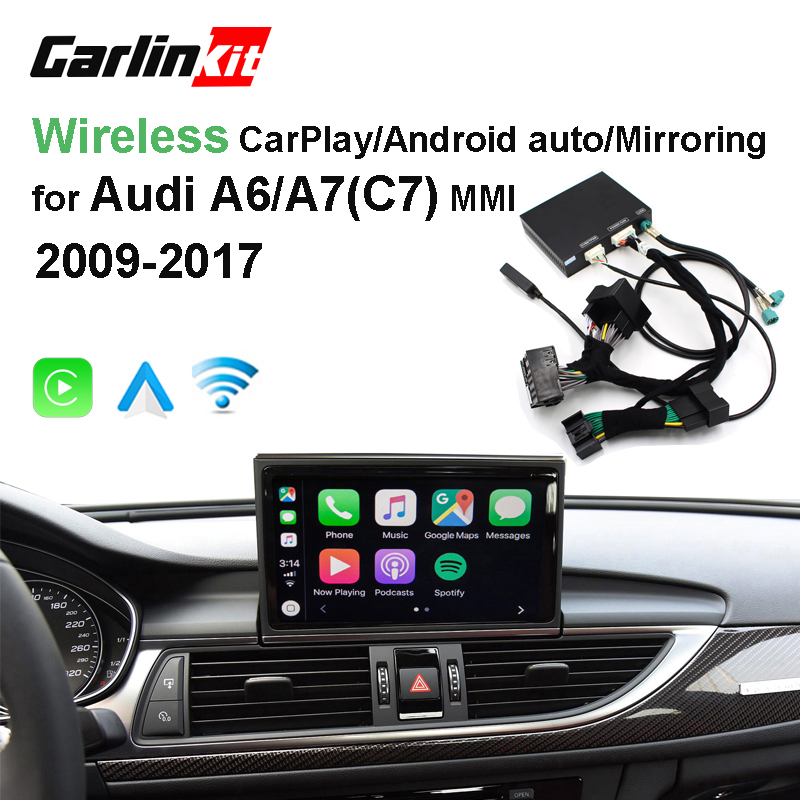 2019 Carro CarPlay Android Auto Decodificador Sem Fio Da Apple para Audi A6 A7 (C7) MMI Original Tela imagem Inversa Kit Retrofit