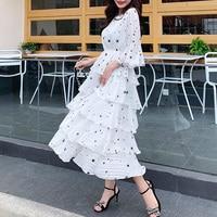 Fashion Women Boho Chiffon party dress Flare sleeve Floral Elegant Summer Beach Floral sweet Sundress