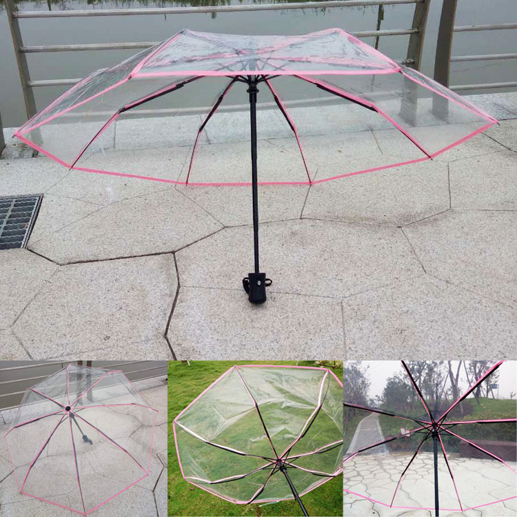 Beautytool Custom Black Wolf Mountain Foldable Umbrella Sun Rain Anti-Uv