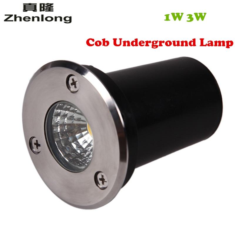 Mini Led Outdoor Underground Light DC12V AC110V 220V 1W 3W COB LED Buried Lights Waterproof IP67