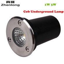 Mini LED lumière souterraine extérieure DC12V AC110V 220 V 1 W 3 W COB LED lumières enterrées étanche IP67 lampe de chemin de jardin extérieur intérieur