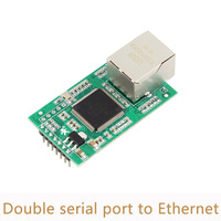 10pcs Lot Double Serial Port To Ethernet Module Network Port Board RJ45 3 3V 5V Dual