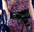 MIOIM 10 Цвет Леди Бантом Пояс Связывают Широкий Пояс Мягкий Искусственной Кожи Пояс Пояс Мода Одежда Аксессуары поясом НЕТ